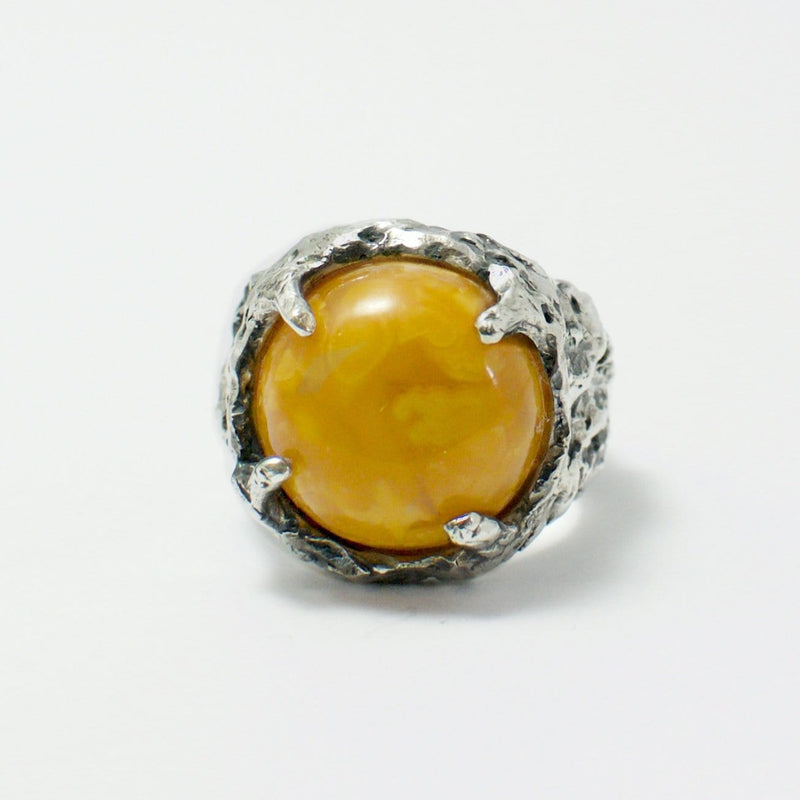 Men´s ring Baltic amber narural caramel