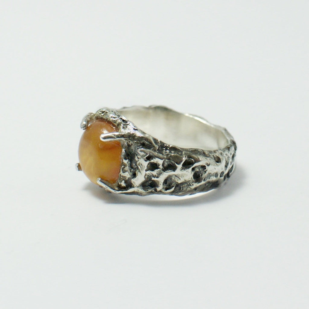 Men´s ring medium baltic amber