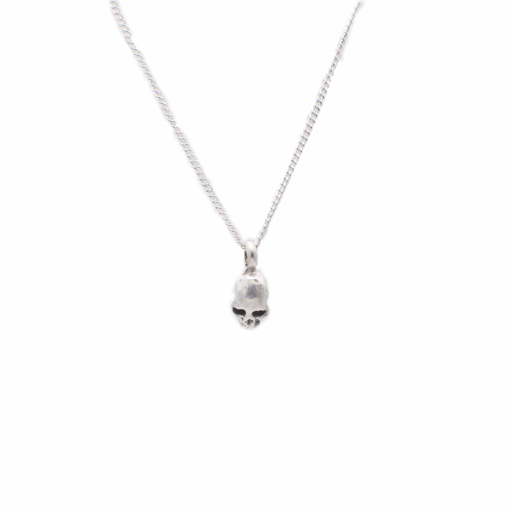Men's necklace Pendant skull small