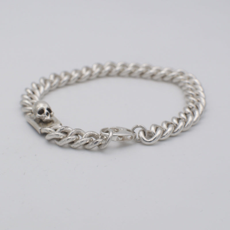 Men´s bracelet curb chain small with skull