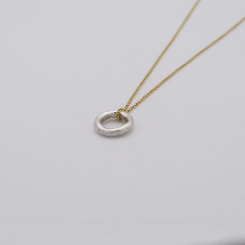 Men's necklace ring with gold chain