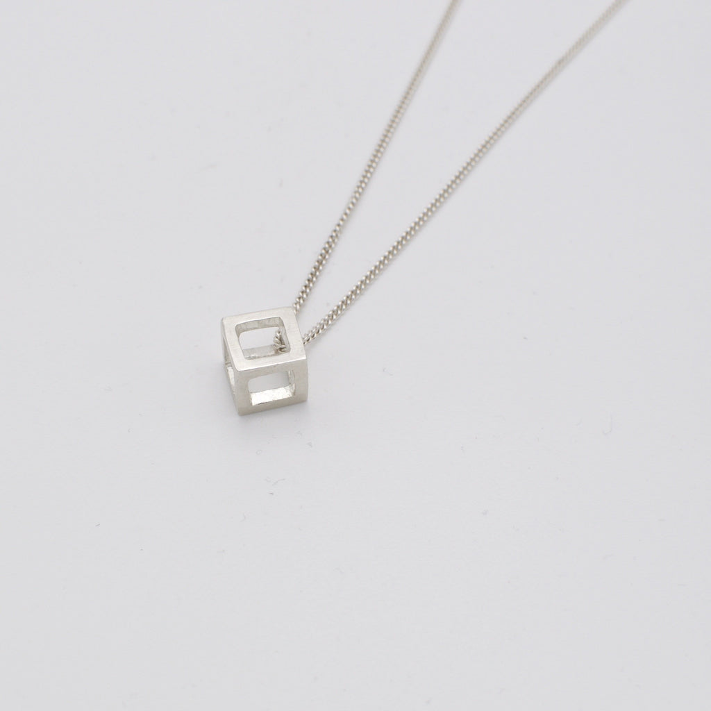 Men's necklace Pendant cube