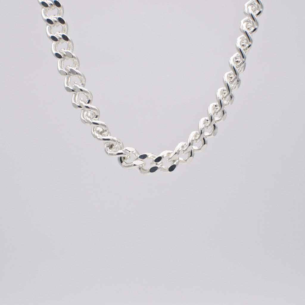 Men's necklace in solid sterling, thick chain.