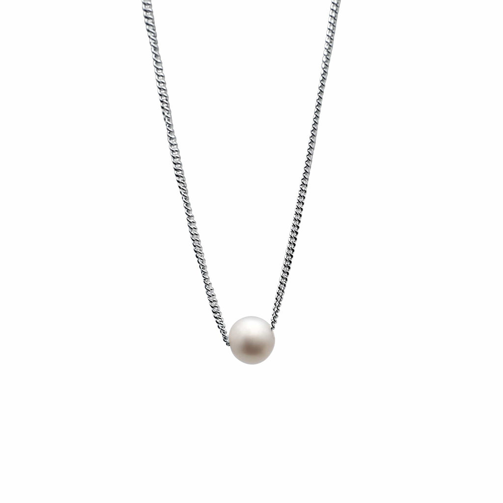 Men's necklace with fresh water pearl