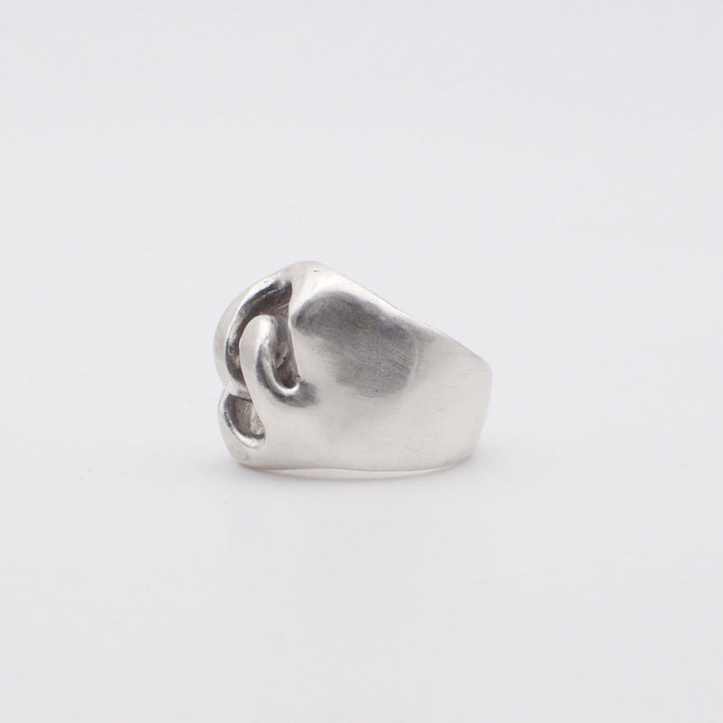 Signet gourmette ring side