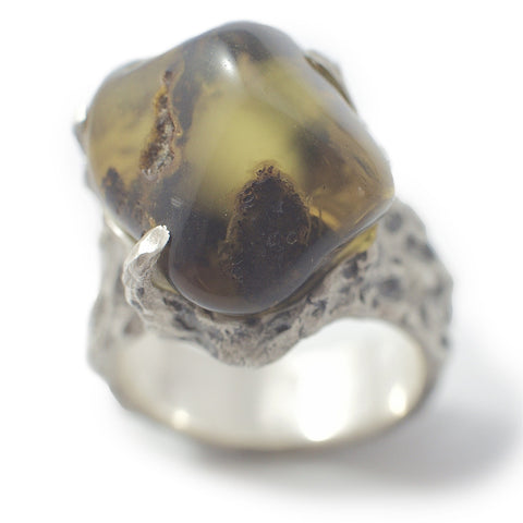 Baltic Amber ring orange