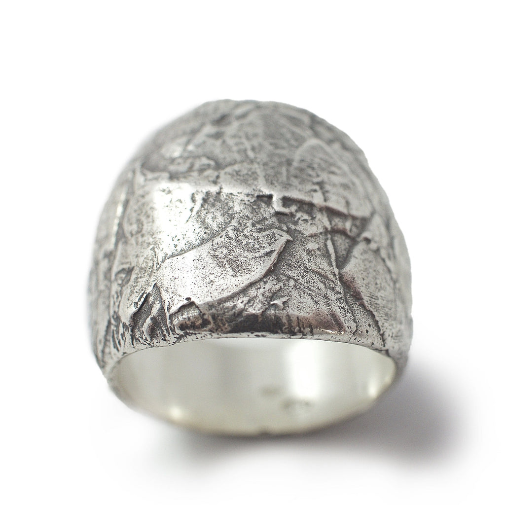 Paper collage ring