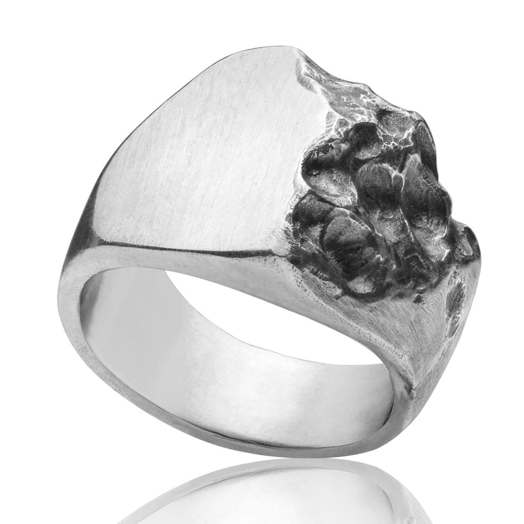 Men's ring Signet crunch