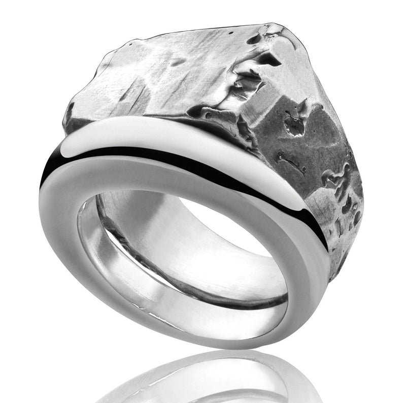 Men's ring Combination signet raw