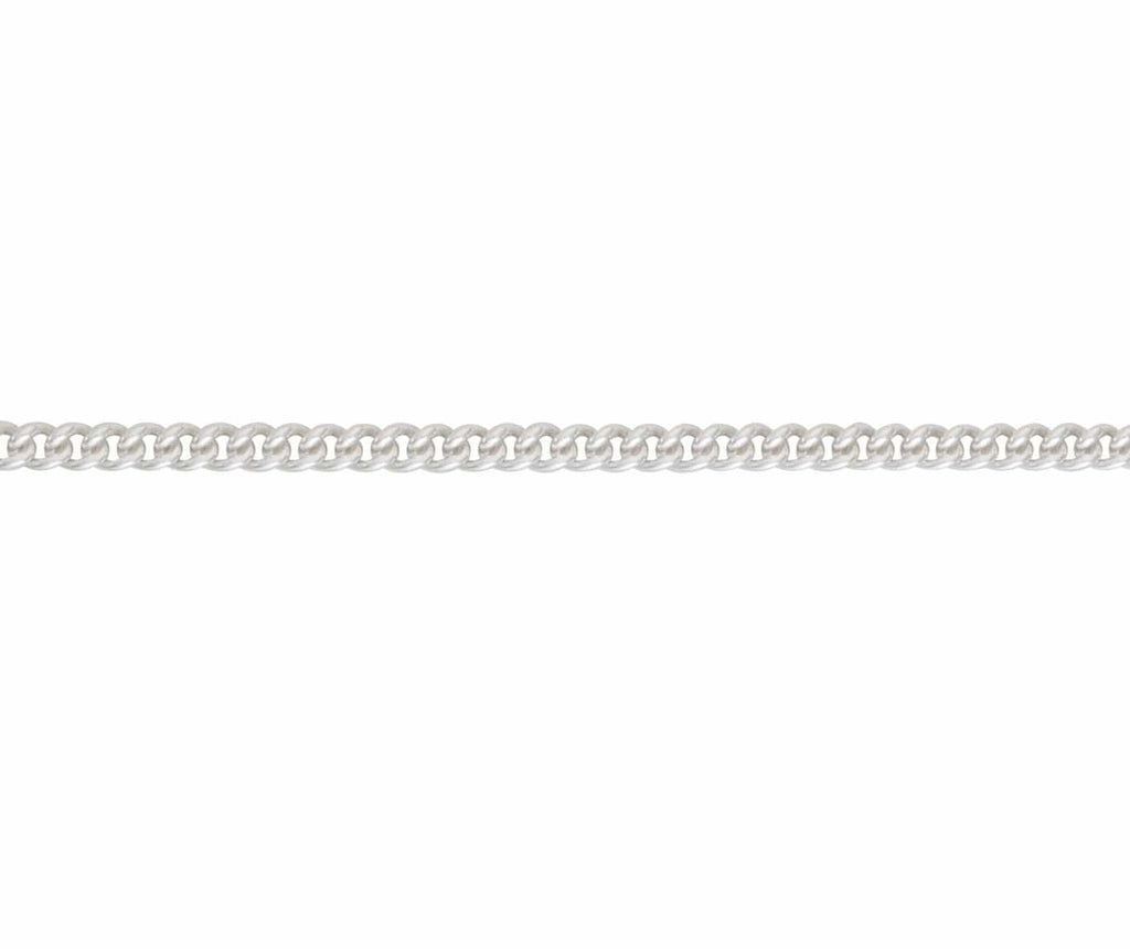 Men´s necklace curb chain in solid sterling