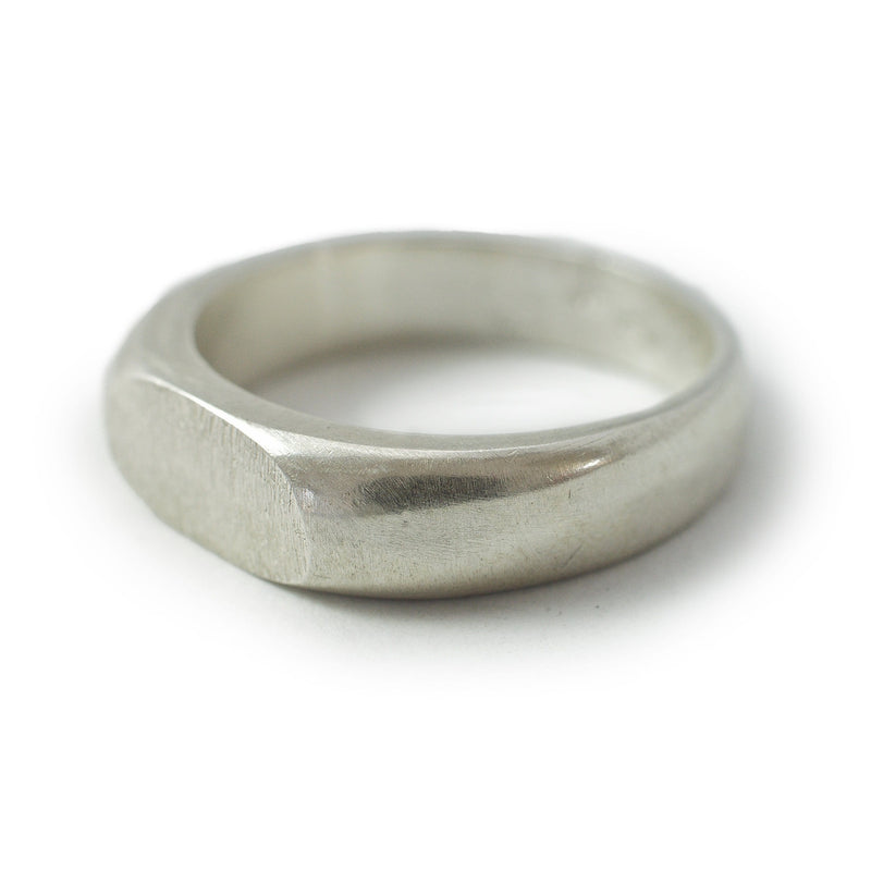 Signet band ring