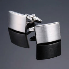 PickaPocket Men's Stainless Steel Cufflinks Plain Face