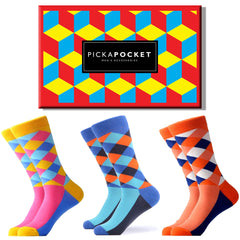 PickaPocket Men's Accessories Crazy Argyle Sock Box