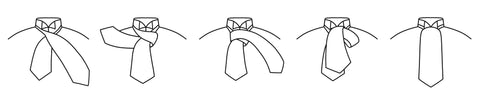 How to tie a traditional cravat
