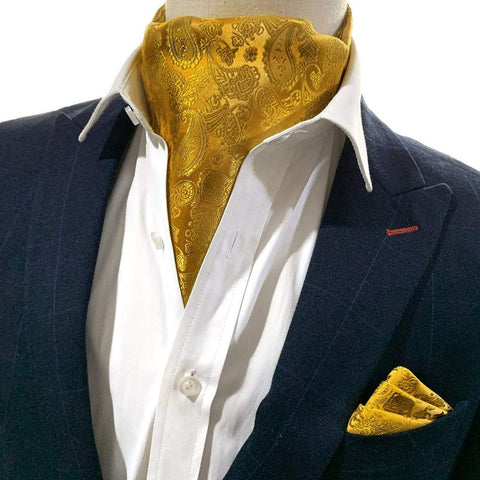 PickaPocket Men's Accessories Cravat Set In Mustard