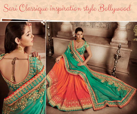 Sari Traditionnel inspiration Bollywood