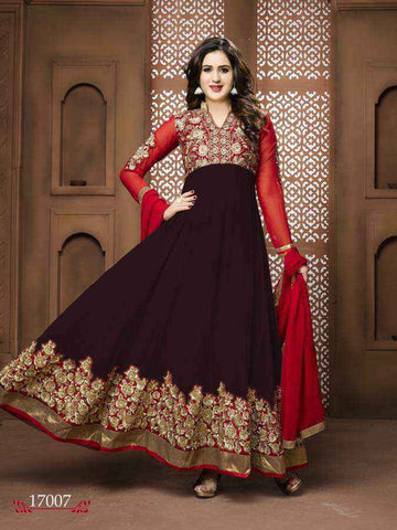 Bollywood Salwar Anarkali Marron Mastani - Narkis Fashion