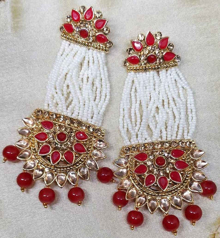 Boucles bollywood rouge Sripriya - Narkis Fashion