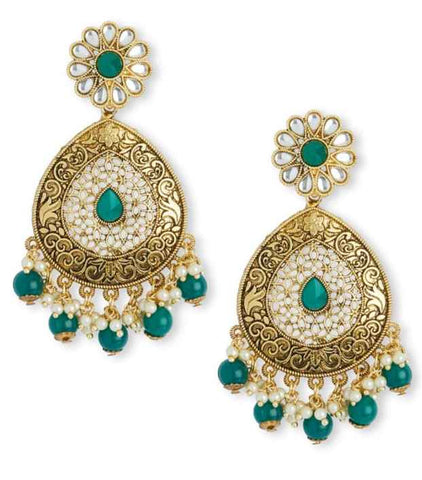 Boucles Indiennes vertes Suhani - Narkis Fashion