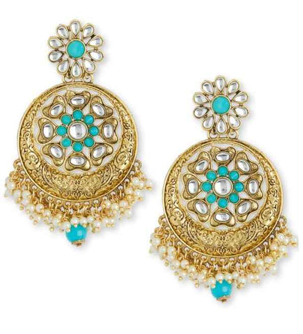 Boucles Indiennes Bleues Sayira - Narkis Fashion