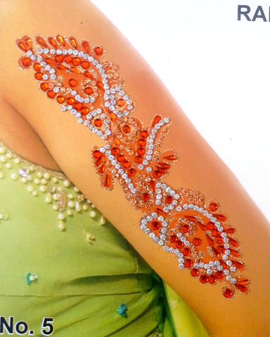 Tatoo autocollant bras Orange - Narkis Fashion
