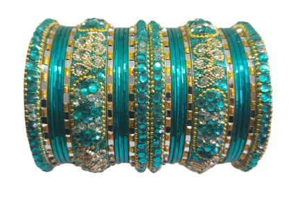 Bracelets bollywood Vert doré - Narkis Fashion