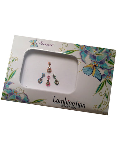 Bindi Bollywood Strass Multicolore - Narkis Fashion