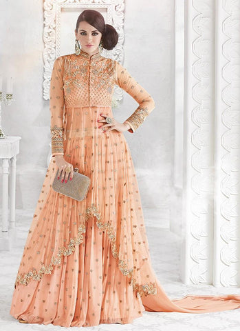 Lehenga/Salwar Designer Orange Dina - Narkis Fashion