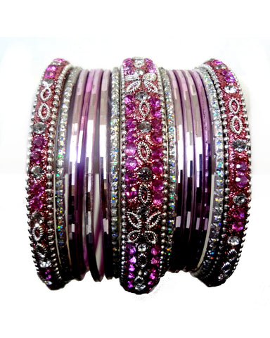 Bracelets Bollywood Rose argenté - Narkis Fashion