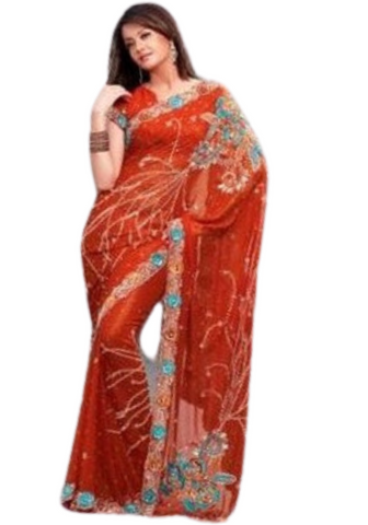 Sari bollywood orange Kareena