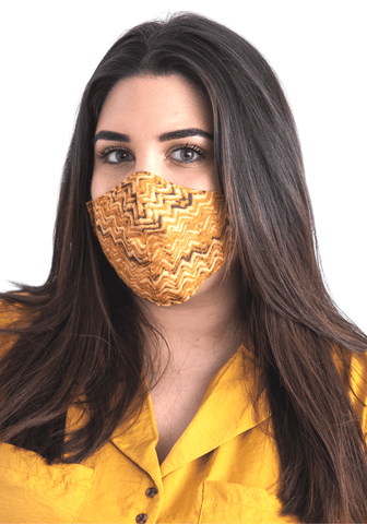 Masque facial textile jaune - Narkis Fashion