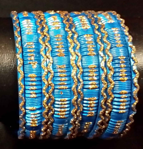 Bracelets Bleu Mohini - Lot de 12 - Narkis Fashion