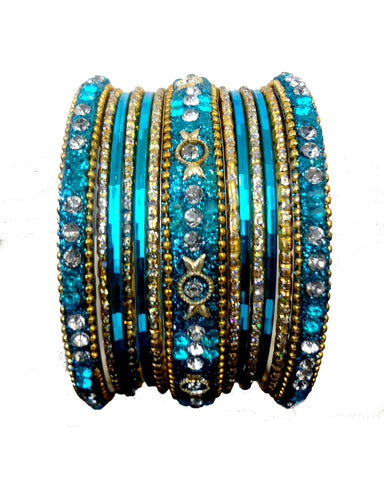 Bracelets bollywood Bleu - Narkis Fashion