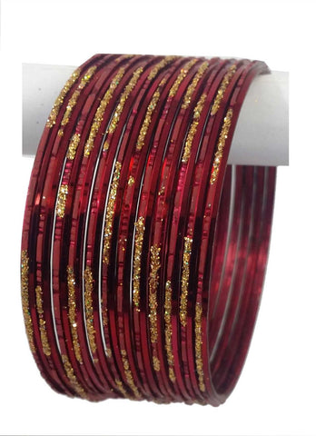 Bracelets Indien Bordeaux - Lot de 12 - Narkis Fashion