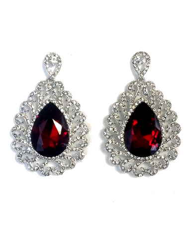 Boucles d'oreilles Royal Rouge Tamanna - Narkis Fashion