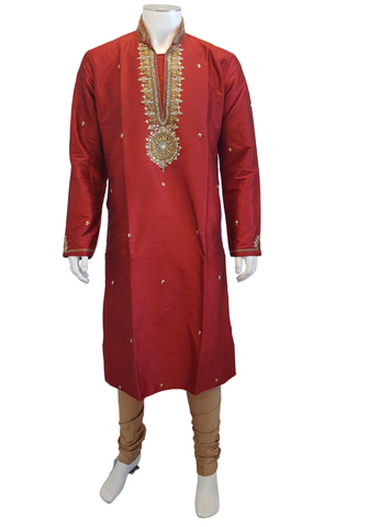 Costume Homme Rouge Gautam - Taille 40 - Narkis Fashion