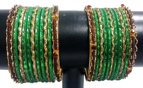 Bracelets Bollywood Vert Tanya - Narkis Fashion
