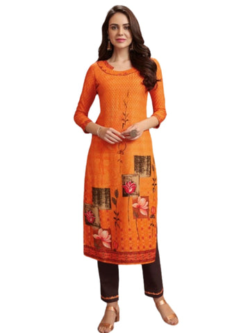 Ensemble femme orange Kavitha - 38 et 42 - Narkis Fashion