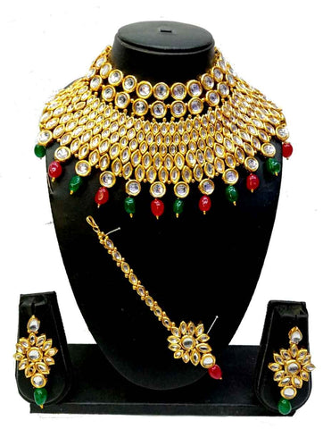 Parure Kundan Multi Sharadha - Narkis Fashion