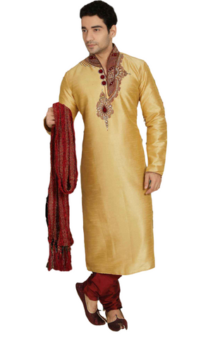 Costume bollywood Beige Farid - Taille 40 - Narkis Fashion
