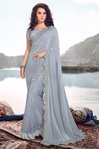 Sari Bollywood Bleu Neha - Narkis Fashion