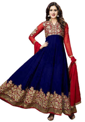 Bollywood Salwar Bleu Marine Mastani - Narkis Fashion