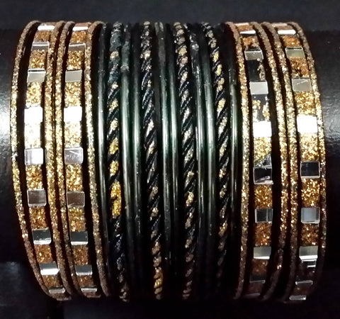 Bracelets Filles Noir Mohini - Lot de 24 - Narkis Fashion