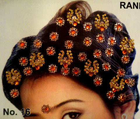 Bijou autocollant Indien Cheveux Orange - Narkis Fashion