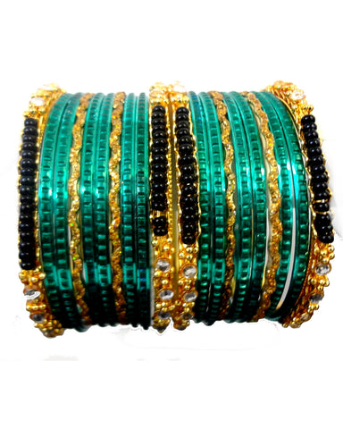 Bracelets Bollywood Tanya - Vert - Narkis Fashion