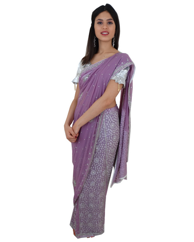 Lehenga Sari Bollywood Radiya Mauve - Narkis Fashion