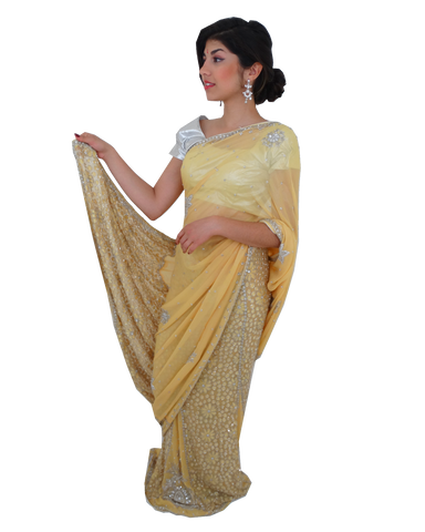 Lehenga Sari Bollywood Radiya Jaune - Narkis Fashion