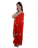 Sari Bollywood Shreya Rouge - Narkis Fashion