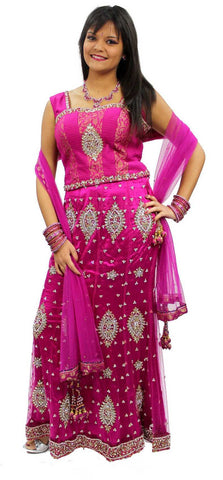 Lehenga Bollywood Rose Saabira - Taille 42 - Narkis Fashion