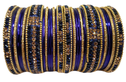 Bracelets bollywood Bleu marine - Narkis Fashion